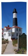Big Sable Point Lighthouse Beach Towel