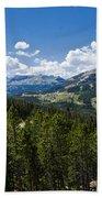 Big Sky Ski Trails Beach Towel