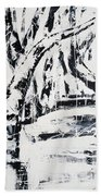 Birch Trees By The Brook Beach Towel