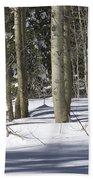 Birch Trees In Snow Beach Towel