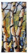 Birches Aglow By Prankearts Beach Towel