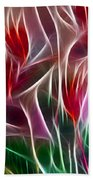Bird Of Paradise Fractal Panel 2 Beach Towel