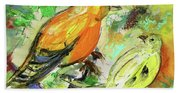 Birds 01 Beach Towel