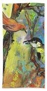 Birds 03 Beach Towel
