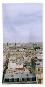 Panoramic Paris Beach Towel