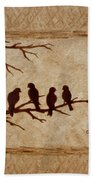 Birds Vintage Photo Beer Painting Beach Towel