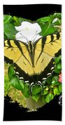 Birthday Greeting Card - Tiger Swallowtail Butterfly Beach Towel