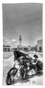 Black And White - Pgr At Houston National Cemetery Beach Towel