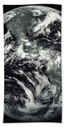 Black And White Image Of Earth Beach Towel