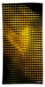 Black And Yellow Abstract I Beach Towel