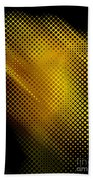 Black And Yellow Abstract II Beach Towel