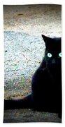 Black Cat Beauty Beach Towel