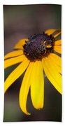 Black Eyed Susan With Young Bee Beach Towel
