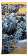 Black River Reflections At Johnsons Shut Ins State Park Vi Beach Towel