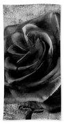 Black Rose Eternal  Bw Beach Towel