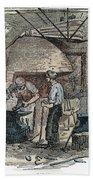 Blacksmith, C1865 Beach Towel