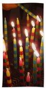 Blazing Amazing Birthday Candles Beach Towel