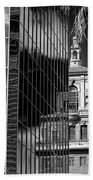 Blending Architecture Black And White Beach Towel