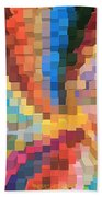 Blocks Of Color From A Pen And Ink Drawing Beach Towel