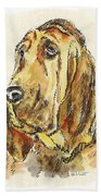 Bloodhound-watercolor Beach Towel