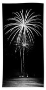 Blooming In Black And White Beach Towel