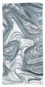 Blue Abstract Art Beach Towel