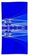 Blue Abstract Beach Towel