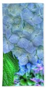 Blue And Green Flora Beach Towel