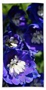 Blue Blossoms Beach Towel