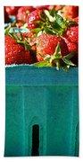 Blue Box Beach Towel by Susan Herber