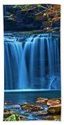 Blue Cascades Beach Towel