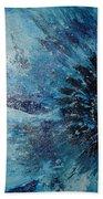 Blue Flower Beach Towel