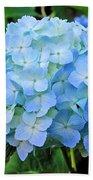 Blue Garden Flower Beach Towel