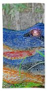 Blue Gator Beach Towel