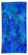 Blue Glass - Abstract Art Beach Towel by Carol Groenen