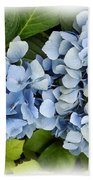 Blue Hydrangeas With Watercolor Effect Beach Towel