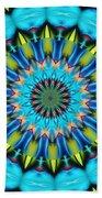 Blue Mandela 102311 Beach Towel
