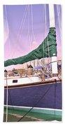 Blue Moon Harbor II Beach Towel by Betsy Knapp