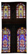 Blue Mosque Stained Glass Windows Beach Sheet