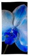 Blue Orchid Bloom Beach Sheet