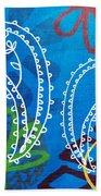 Blue Paisley Garden Beach Sheet