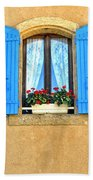 Blue Shutters In Provence Beach Towel