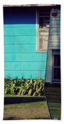 Blue Siding And Camper Beach Towel