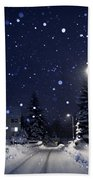 Blue Silent Night Beach Towel