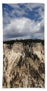 Blue Skies And Grand Canyon In Yellowstone Beach Towel