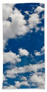Blue Sky And Clouds Beach Towel