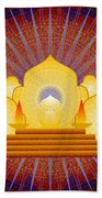 Blue Sun Temple 2012 Beach Towel