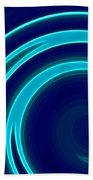 Blue Swirls Beach Towel