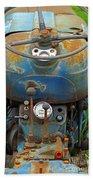Blue Tractors Driver's Seat Beach Towel