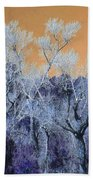 Blue Trees New Mexico Beach Towel